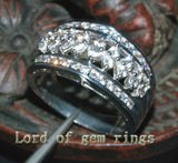 Unique Channel 1.05CT Diamond Solid 14K White Gold Wedding Band Ring 6.15g Size7 - Lord of Gem Rings - 2