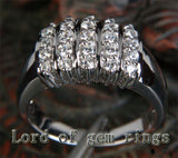 Unique Natural .55CT Diamond Solid 14K White Gold Wedding Band Ring 6.57g Size 6 - Lord of Gem Rings - 3