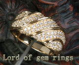 Unique Pave 1.21CT Diamond 14K Yellow Gold Wedding Band Engagement Ring 6.47g! - Lord of Gem Rings - 2