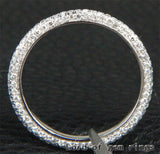 Pave Diamond Wedding Band Eternity Anniversary Ring 14K White Gold -VS/H Diamonds - Lord of Gem Rings - 3