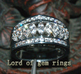 Unique Channel 1.05CT Diamond Solid 14K White Gold Wedding Band Ring 6.15g Size7 - Lord of Gem Rings - 3