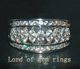 Unique Channel 1.05CT Diamond Solid 14K White Gold Wedding Band Ring 6.15g Size7 - Lord of Gem Rings - 1
