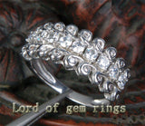 Unique Natural .72CT Diamonds 14K White Gold Wedding Band Engagement Ring 4.4g! - Lord of Gem Rings - 4
