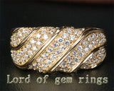 Unique Pave 1.21CT Diamond 14K Yellow Gold Wedding Band Engagement Ring 6.47g! - Lord of Gem Rings - 1