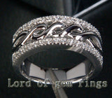 Unique Pave .28ctw Diamonds Solid 14K White Gold Wedding Band Ring 7.89g! Size 7 - Lord of Gem Rings - 4