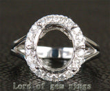 Reserved for masherita,Custom Made Engagement RIng Semi Mount for Oval stone - Lord of Gem Rings - 1