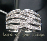 Unique .65ct Diamonds Wedding Band Engagement Ring in 14K White Gold, 7.24g - Lord of Gem Rings - 2