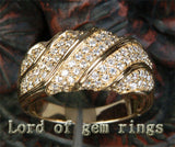 Unique Pave 1.21CT Diamond 14K Yellow Gold Wedding Band Engagement Ring 6.47g! - Lord of Gem Rings - 3