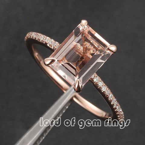 band art deco carat cushion wedding eternity ring rings gold engagement half diamond morganite rose set matching