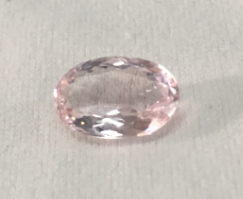 Reserved for Christy Elongated Pink Oval Morganite Ring Pave Diamond 14K Rose Gold 7x11mm