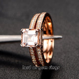 Reserved for siik300 Custom matching band for Asscher Morganite Engagement Ring - Lord of Gem Rings - 2
