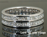 Princess Diamond Wedding Band Eternity Anniversary Ring 14K White Gold- VS/H Diamonds 3.08ct - Lord of Gem Rings - 3