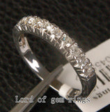 Natural Diamond Wedding Band Half Eternity Anniversary Ring 14K White Gold - 0.65ct - Lord of Gem Rings - 2