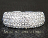 Diamonds Wedding Band Engagement Ring 18K White Gold - 2.02ctw Gorgeous - Lord of Gem Rings - 4