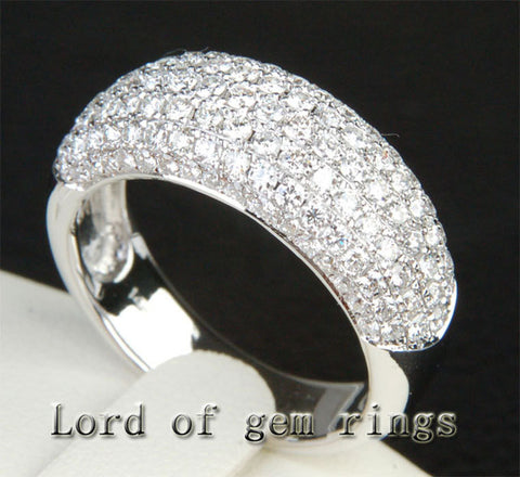 Diamonds Wedding Band Engagement Ring 18K White Gold - 2.02ctw Gorgeous - Lord of Gem Rings - 1