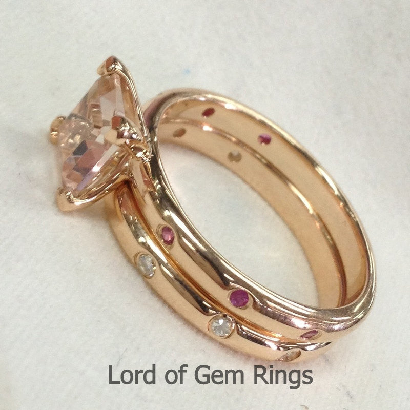 Reserved yosman26, Custom Moissanite Wedding/Anniversary Band 14K Rose Gold - Lord of Gem Rings - 1