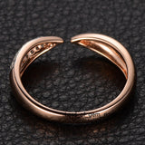 Pave Diamond Wedding Band Anniversary Ring 14K Rose Gold Unique Symmetrical - Lord of Gem Rings - 4