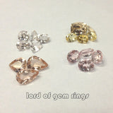 Morganite loose stones, for custom  Engagement or Wedding Ring with accent diamonds or gemstones - Lord of Gem Rings - 3