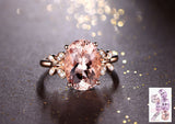 Reserved for Kamid Oval Morganite Engagement Ring 14K Rose Gold,1st payment - Lord of Gem Rings - 1