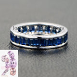 2x4mm emerald cut sapphire for wedding bands