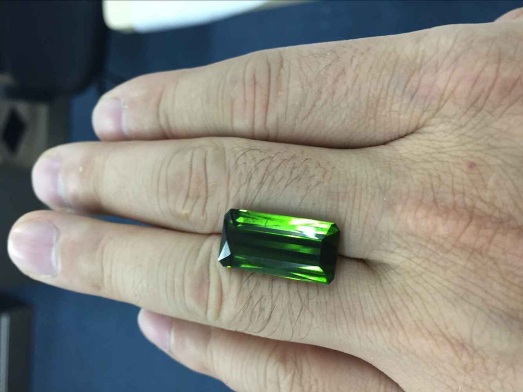 green tourmaline for diamond pendant - Lord of Gem Rings - 1