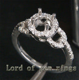 Reserved for morganshowhorse88, Diamond Engagment Semi Mount Ring 14K white Gold Setting Round - Lord of Gem Rings - 3