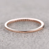 Pave Black Diamond Wedding Band Half Eternity Anniversary Ring 14k Rose gold