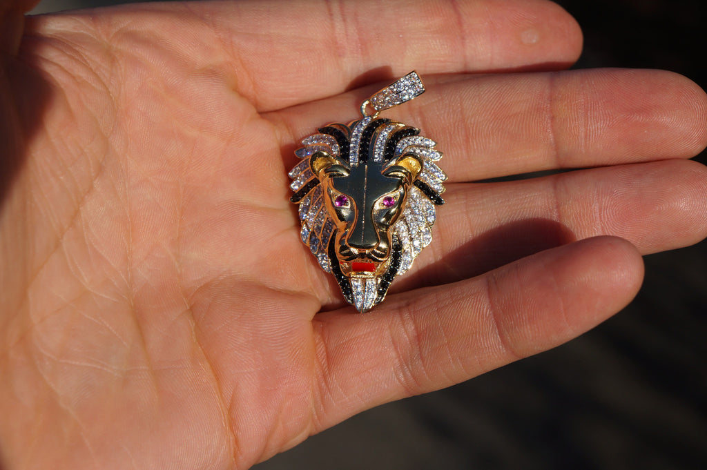 14k gold iced out small micro pave lions head pendant ice jewelry co 14k gold iced out small lions head pendant ice jewelry aloadofball Choice Image