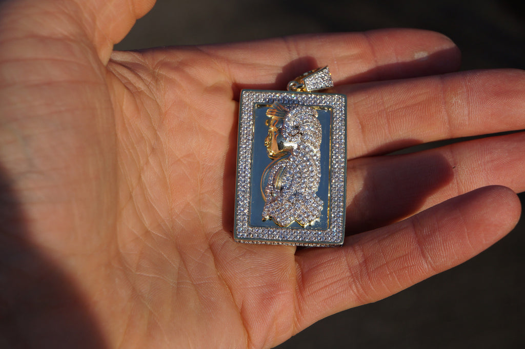 14k gold micro pave iced out lab diamond gold bar small pendant 14k gold micro pave iced out lab diamond gold bar small pendant ice jewelry co aloadofball Image collections
