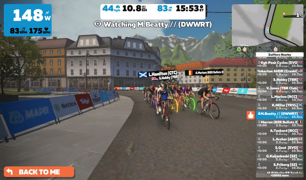 Zwift racing team London