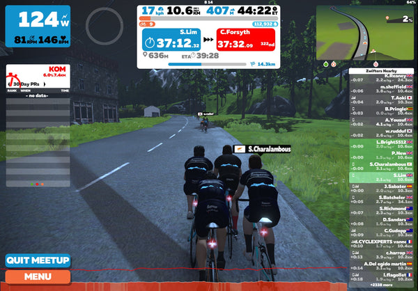 Beginners guide to Zwift meet ups