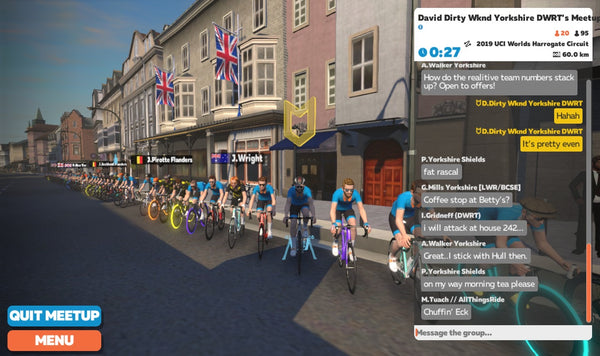Zwift events in May