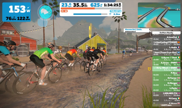 Zwift group rides