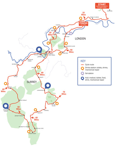 Ride London route details