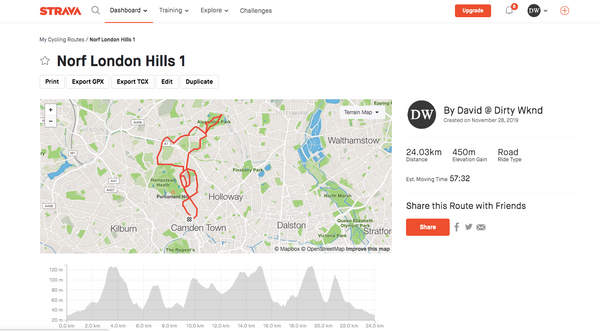 North London cycling routes