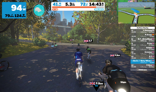 DW Monday Night Zwift Group Ride: 6:30 - 7:30pm - Dirty Wknd