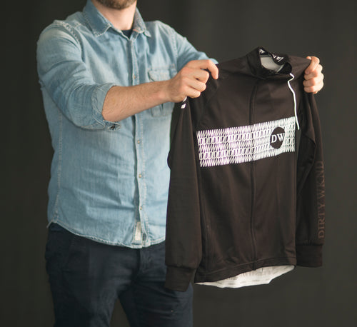 Dirty Wknd Maglia Nera Long Sleeve Racer Jersey - Mens