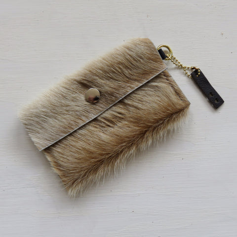 Accessory Bag || Light Brown Fur