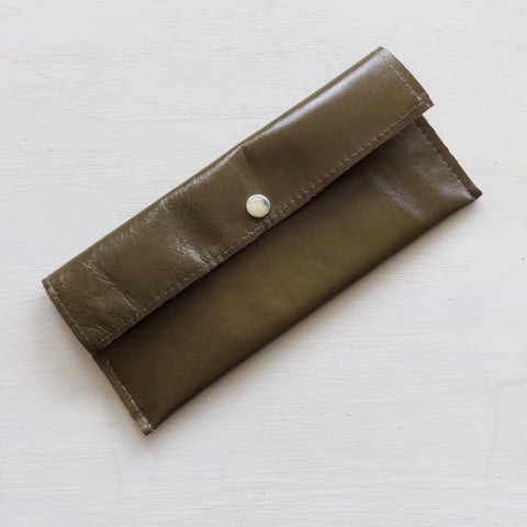 Accessory Bag || Brown Leather Hide