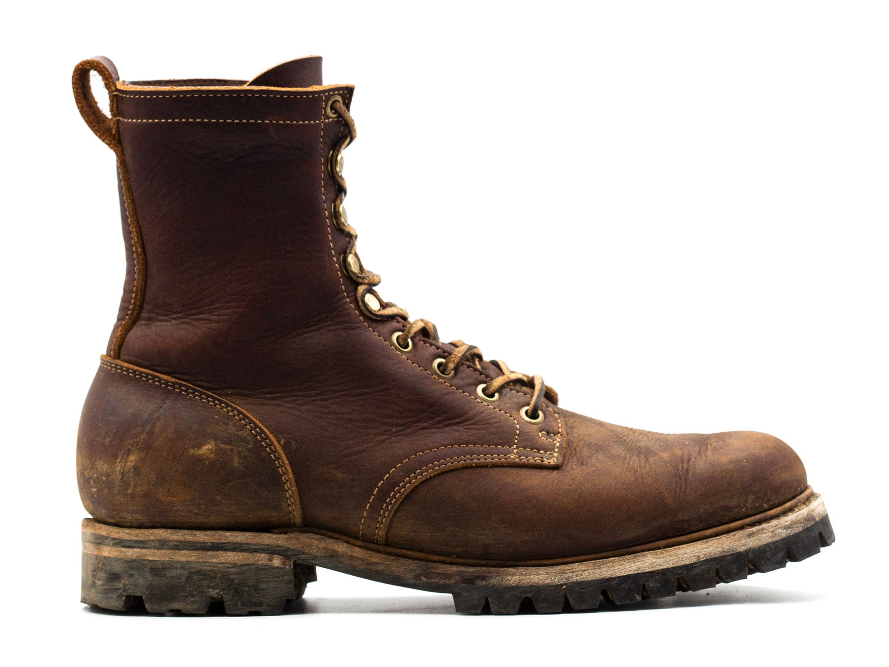 Cattail Grizzly Upland boot used and in worn condition