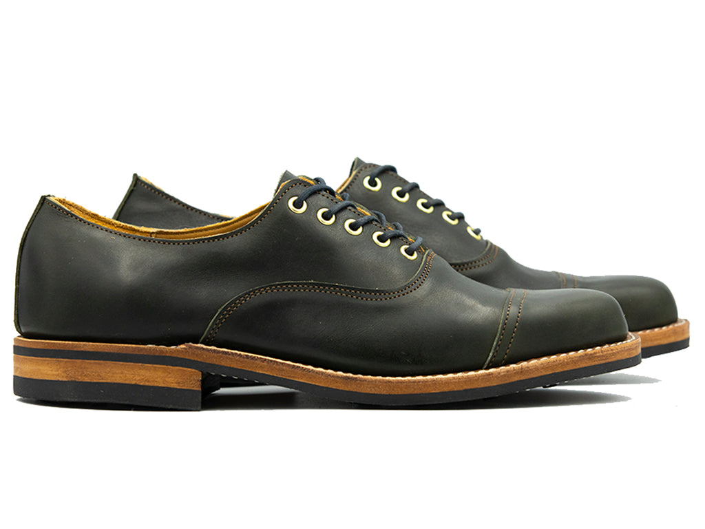 Olive French Calf Oxford