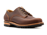Ready to Ship: Chestnut Waxed Flesh Derby 10.5D