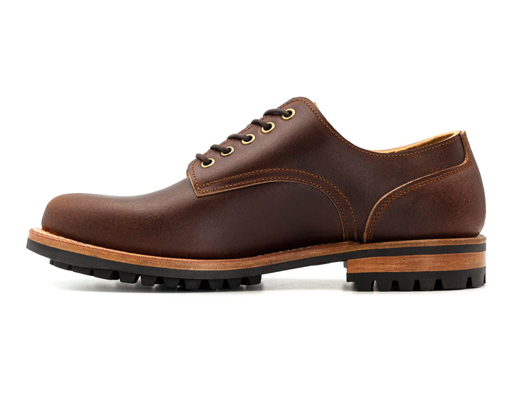 Ready to Ship: Chestnut Waxed Flesh Derby 9.5D