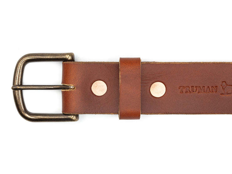 Rust Leather Work Belt
