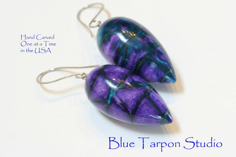 Iris Drop Earrings - Resin