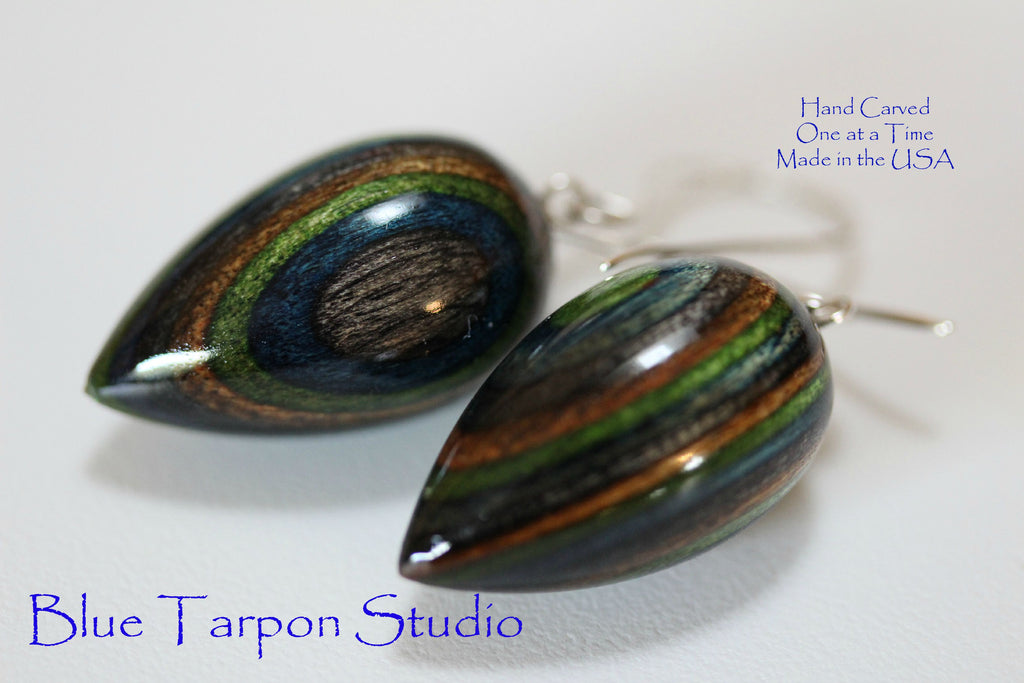 Peacock Pod Earrings