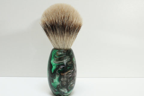 Badger Hair Shaving Brush, Abalone Resin Handle