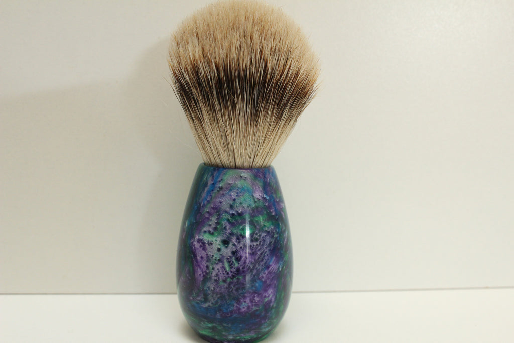 Badger Hair Shaving Brush, Monet Resin Handle