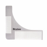 Biutee Man Gentleman Beard Trim Template hair cut hair molding trim template beard modelling tools with Leather Bag