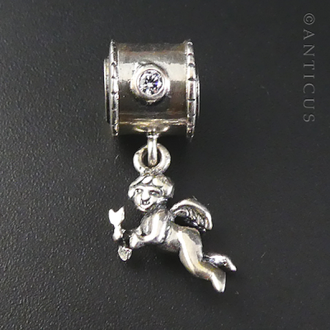 Halia Charm or Pendant, Cherub Drop.
